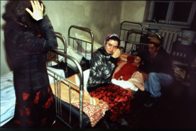 mourning civilian in Vedeno, Chechnya